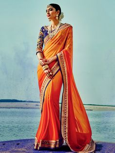 saaa15500a-orange-silk-georgette-saree-with-lace-work.jpg (1000×1330)