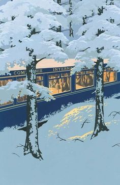 Andrew Davidson: Illustration for Murder on the Orient Express. Folio Society.