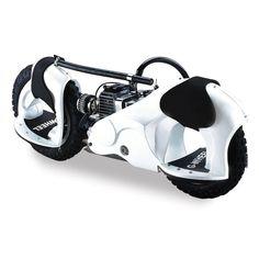 Bu motorlu hibrit scooterla 33 km menzile sahip ayrıca kaykay,sörf, snowboard gibi dönüş yapabiliyor. İki Ayakta kaymayı önleyen malzemeyle kaplı jantların içine takılıyor. 2 beygirlik 2 silindirli motorla donatılmış, arka tekerdeki fren ve vites sürücü tarafından kontrol ediliyor. 14 inçlik tekerleri her türlü arazi koşulu ve asfaltta sürüş sağlıyor.91 kiloya kadar sürücü desteğiyle, 15 derecelik …