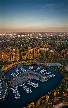 Harbour and the city, Toronto, Canada.