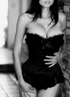 Corset's are cleavage enhancing machines....Love that about them!