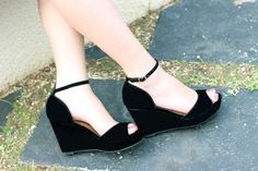 Black Wedges from So Fab Summer Wedges, Classic Pumps, Black Wedges, Ballet Flats, Philippines, Bamboo, Abs, Footwear, Fashion Outfits