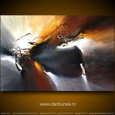 "Very large abstract painting by Dan Bunea: ""Rise again"", 150x100cm or 60x40in…"