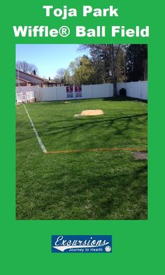 Toja Park Wiffle ball field in East Northport, NY. Backyard wiffle ball field, see more pictures, video, and info about this field. Wiffle ball field of the month. East Northport, Backyard Baseball, Wiffle Ball, Fields, Journey, Football, Park, Pictures, Soccer