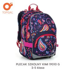 Plecak szkolny Topgal z ponadczasowym przepięknym wzorem. Vera Bradley Backpack, Backpacks, Bags, Handbags, Totes, Backpack, Lv Bags, Hand Bags, Bag