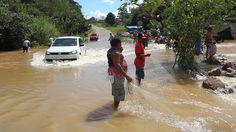 Cheia histórica do rio Madeira inunda a capital de Rondônia
