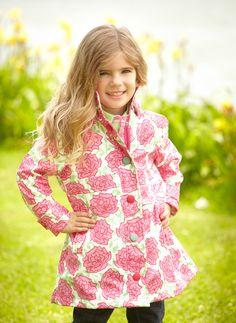 Hatley Pink Roses Waterproof Raincoat - a lovely spring/summer coat. £39.99