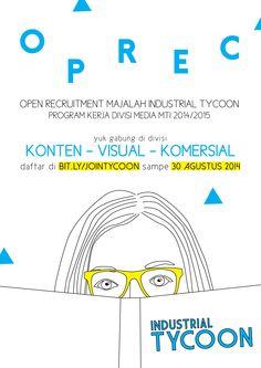 Open Recruitment Industrial Tycoon Magazine Poster Design - MTI