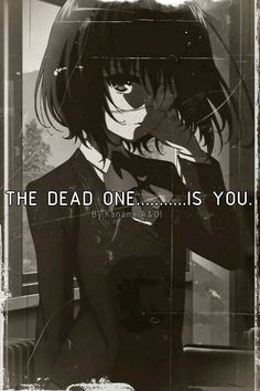 The dead one is you - Another Misaki Mei Anime Ai, Chica Anime Manga, All Anime, Me Me Me Anime, Anime Stuff, Anime Girls, Animes Yandere, Fanarts Anime, Anime Characters