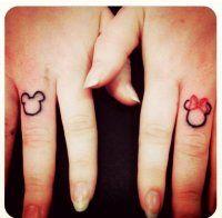 Simple Cute Couple Tattoos - Cute Couple Finger Tattoos