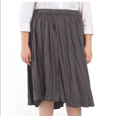 Philosophy Plus Size Mid-Calf Skirt Gray size 1X Philosophy Skirt  Size: Women's size 1X  Color: gray  Condition: New  Measurements: Waist= 16.5 (unstretched), Length= 30  **Measurements are taken with item laying flat and in inches Philosophy Skirts Midi