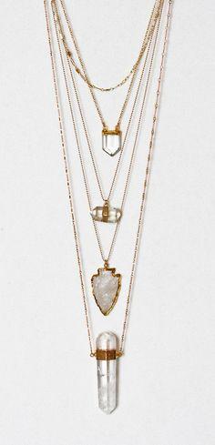 CRYSTAL pencil necklace | Kei Jewelry