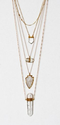 CRYSTAL pencil necklace | Kei Jewelry