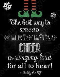 11x14 Elf Christmas Movie Quote Printable by JennovaDesigns