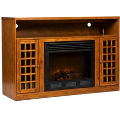 Southern Enterprises Lipan TV Stand with Electric Fireplace, Electric Fireplace TV Stand, Media Console Electric Fireplace, 50 Flat Screen TV Stand Fireplace Media Console, Fake Fireplace, Fireplace Mantels, Fireplaces, Flat Screen Tv Stand, Electric Fireplace Tv Stand, Wall Outlets, Mobile Home, Accent Furniture