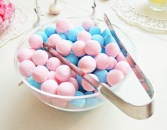 Pink and blue sweeties.