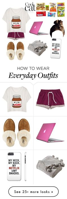 """My outfit everyday during break"" by elisabethbstylin on Polyvore featuring H&M, UGG Australia, Speck and Victoria Classics"