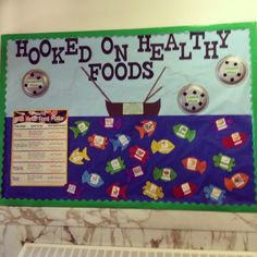 nutrition bulletin board ideas Submitted by Megan Surles in Wilmington, NC.Thanks for contributing to . Cafeteria Bulletin Boards, Nurse Bulletin Board, Office Bulletin Boards, Food Bulletin Boards, Cafeteria Decor, Nutrition Education, Health And Physical Education, Kids Nutrition, Nutrition Jobs