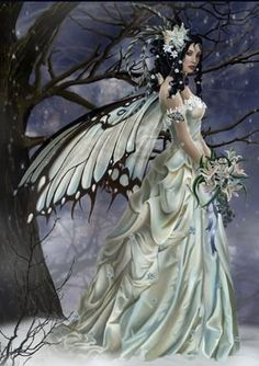Fairy Bride.....#fantasy #fairy #faerie #art #bride #white