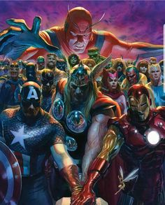 Exclusive: Giant-Man looms over Avengers in new Alex Ross fine art litho Avengers Comics, Avengers Art, Marvel Comics Art, Avengers 2017, Comic Book Artists, Comic Book Characters, Marvel Characters, Comic Books Art, Comic Art