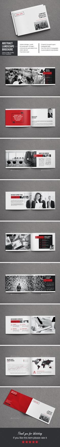 Abstract Landscape Brochure  InDesign Template • Download ➝ https://graphicriver.net/item/abstract-landscape-brochure/17111876?ref=pxcr