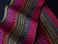 """Red/Teal Scarf 2012 by Juanita Girardin  """"Uncommon Textiles"""""""