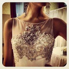 beaded wedding gown. so amazing