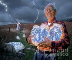 'The Lightning Catchers' by fineartamerica.com artis Bryan Allen. Click on the link to go to his FAA page and read the wonderful story behind this picture.