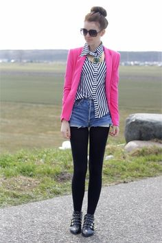 eb1377492e7 Discover this look wearing Pink Zara Blazers