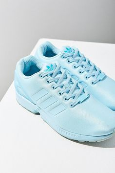 f135c64a921   light blue Adidas Mono ZX Flux Sneaker! How amazing are these  I