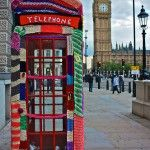 Yarn bombing aka 'Grandma Graffiti'. More info at http://yarnbombing.com/