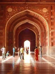 Taj Mahal; interior of mosque