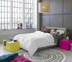 twisted white bed linens    CB2