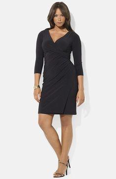 Lauren+Ralph+Lauren+Surplice+Matte+Jersey+Dress+(Plus+Size)+available+at+#Nordstrom