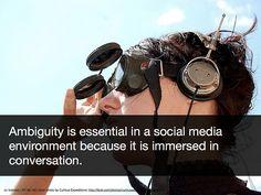 Ambiguity in social media