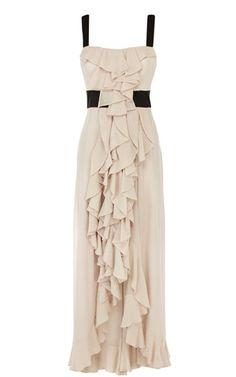 Ruffled Maxi dress by Karen Millen on Shop For Fun. Rehearsal dinner... Casual wedding... Lotsa stuff!