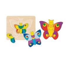 Unser Schmetterlingsschichtenpuzzle aus vier Ebenen mit je elf Teilen :)))