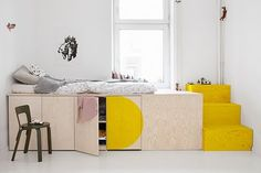 Children's room and family home by the Berlin design team jäll & tofta. Interior designs made in Germany and individually … Home Bedroom, Kids Bedroom, Bedroom Decor, Bedrooms, Plataform Bed, New Room, Small Spaces, Kid Spaces, Home And Family