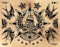Paul Anthony Dobleman Tattoo Flash