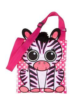 Cartoon Zebra Crossbody Bag   Girls Pop Riot New Arrivals   Shop Justice