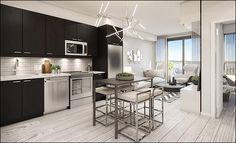 Condolife Magazine features YongeParc will rise to 19 storeys and offer urban condominium design. Greater Toronto Area, Condo Design, Richmond Hill, New Condo, Kitchenette, Lounge Areas, Life Magazine, Condominium, Urban