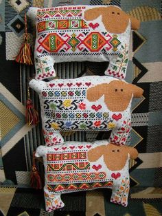 sheep.cross stitch toy