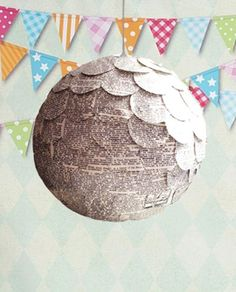 Gender Reveal Pinata made of Vintage Book Pages | Like a Gender Reveal Balloon but this is a Unique  Pull String Pinata | READY TO SHIP