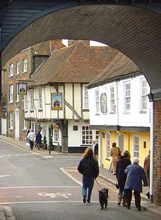 The medieval town of Sandwich in Kent, UK A coastal town it was here that the first captive elephant landed in 1255, it was a gift to King Henry III from the French king, and was then taken on foot to the king's zoo at the Tower of London, on the way a bull in a field adjacent to the roadside took umbrage to the great beast passing and attacked it. In one move the animal was thrown by the elephant and it was  killed outright