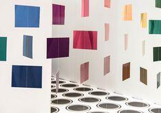 Messeauftritt des Dachverbands Maler und Gipser (SMGV) an der Applitech. Design by Konform. Luzern, 2015 Curtains, Design, Home Decor, Lucerne, Painters, Blinds, Interior Design, Draping, Design Comics