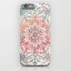 Autumn Spice Mandala in Coral, Cream and Rose iPhone & iPod Case