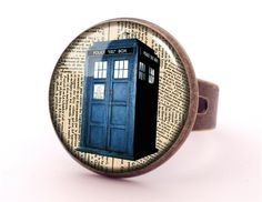 DR WHO TARDIS Ring, Green Jewellery, 0167RB from EgginEgg by DaWanda.com