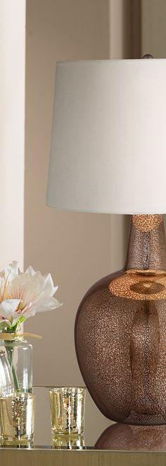 Nita Distressed Brown Glass Table Lamp