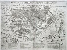 Antique Map Florimi Cairo