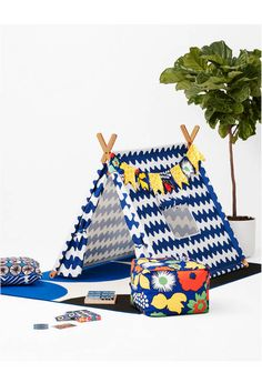 Marimekko for Target Play Tent 3 pc - Lokki Print - Primary Marimekko, Target Outdoor Rugs, Scandi Chic, Sewing Projects For Kids, Target Style, Sewing Table, Sewing Patterns Free, Home Decor Inspiration, Decoration